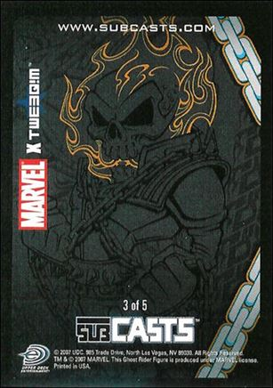 2007 Marvel Masterpieces (Subcasts Gamepiece Subset) 3-A