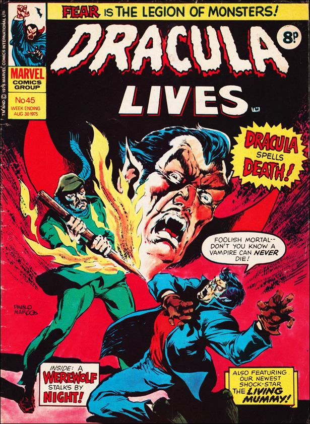 Dracula Lives (UK) 45-A by Marvel UK