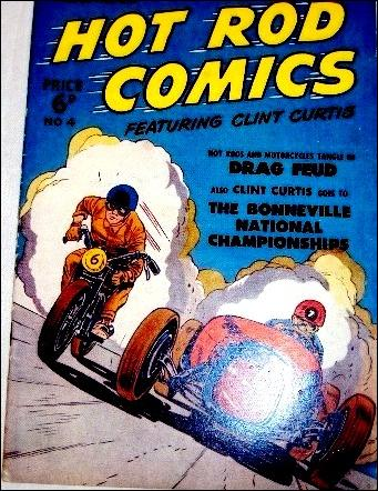 Hot Rod Comics Featuring Clint Curtis (UK) 4-A by Fawcett