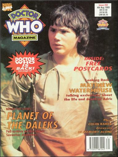 Doctor Who Magazine 202-A by Marvel UK