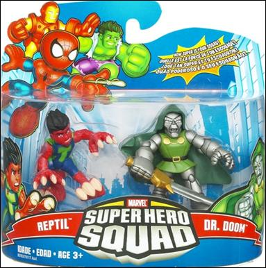 Marvel Super Hero Squad Reptil and Doctor Doom by Hasbro
