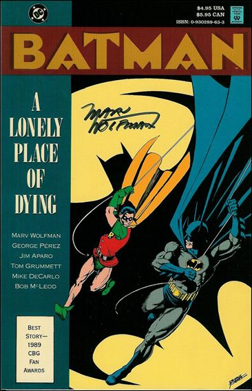 Batman: A Lonely Place of Dying 1-C by DC