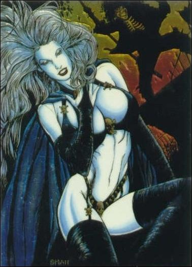 Lady Death All Chromium (Base Set) 46-A by Krome Productions