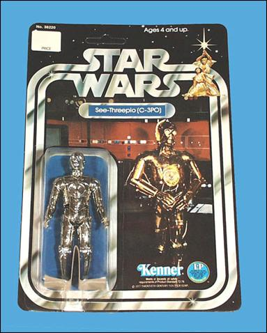 "Star Wars 3 3/4"" Basic Action Figures (Vintage) See-Threepio (C-3PO) (SW 12 Back) by Kenner"