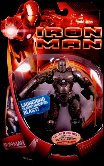 Iron Man (Movie) Iron Man (Mark 01 - Grey) by Hasbro