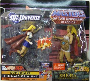 DC Universe Classics vs Masters of the Universe Classics  Supergirl vs She-Ra by Mattel