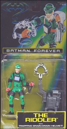 Batman Forever The Riddler with Trapping Brain-Drain Helmet
