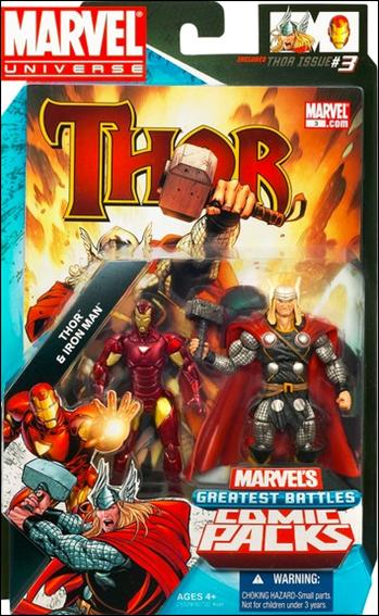 Marvel Universe: Marvel's Greatest Battles (Comic-Packs) Thor and Iron Man by Hasbro