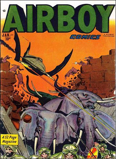 Airboy Comics (1951) 12-A by Hillman