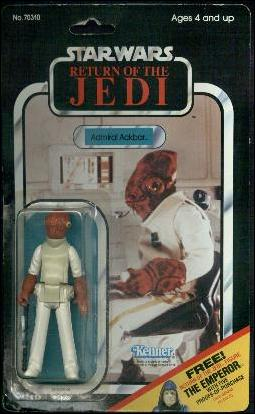 "Star Wars 3 3/4"" Basic Action Figures (Vintage) Admiral Ackbar (RotJ 66 Back) by Kenner"