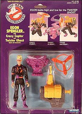 Real Ghostbusters: Power Pack Heroes Egon Spengler with Crazy Copter and Twister Ghost by Kenner