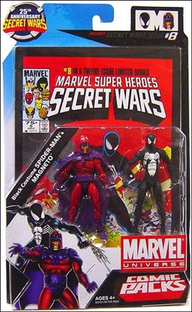 Marvel Universe: Secret Wars (Comic-Packs) Black Costume Spider-Man and Magneto