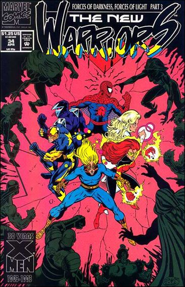 New Warriors (1990) 34-A by Marvel