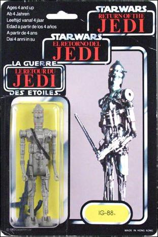 "Star Wars 3 3/4"" Basic Action Figures (Vintage) IG-88 (Tri-Logo) by Kenner"