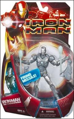 Iron Man (Movie) Iron Man (Mark 02 - Silver) by Hasbro