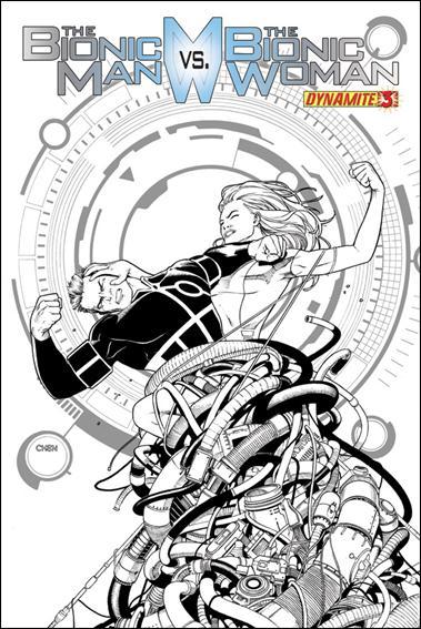 Bionic Man vs the Bionic Woman 3-D by Dynamite Entertainment