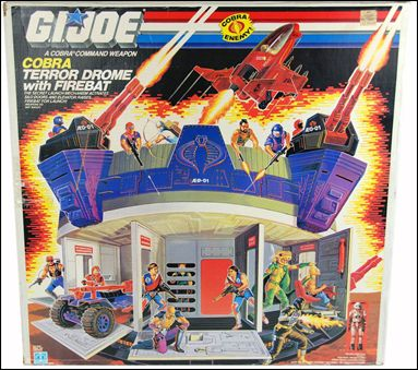 "G.I. Joe: A Real American Hero 3 3/4"" Basic Vehicles and Playsets Cobra Terror Drome (with Firebat) by Hasbro"