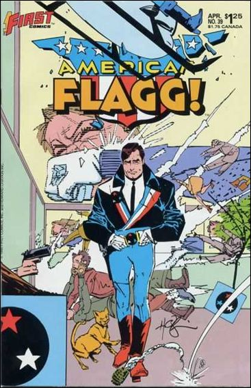 American Flagg! (1983) 39-A by First