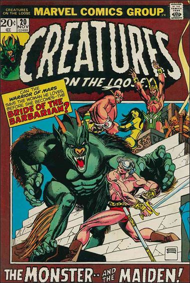 Creatures on the Loose 20-A by Marvel