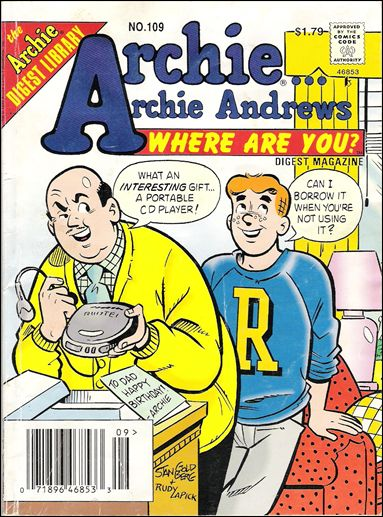 Archie…Archie Andrews, Where Are You Comics Digest Magazine 109-A by Archie