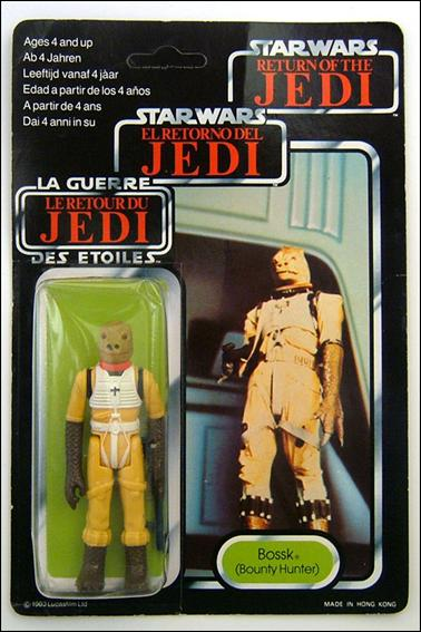 "Star Wars 3 3/4"" Basic Action Figures (Vintage) Bossk (Bounty Hunter) (Tri-Logo) by Kenner"