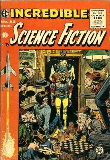 Incredible Science Fiction (1955) 32-A by E.C.