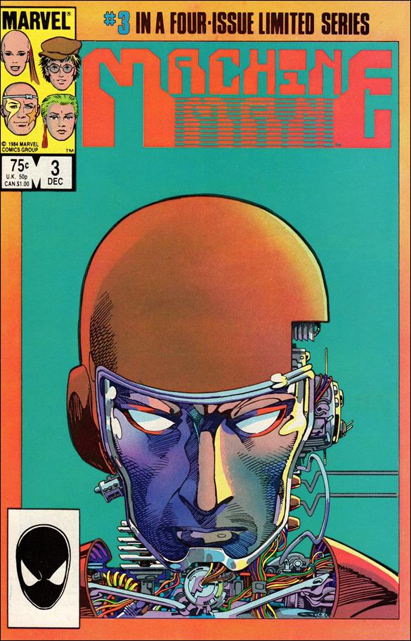Machine Man (1984) 3-A by Marvel