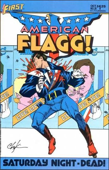 American Flagg! (1983) 25-A by First