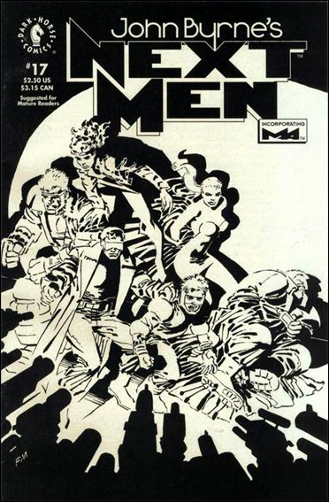 John Byrne's Next Men (1992) 17-A by Dark Horse