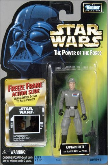 "Star Wars: The Power of the Force 2 3 3/4"" Basic Action Figures Captain Piett (Pistol Sticker) w/ Freeze Frame by Kenner"