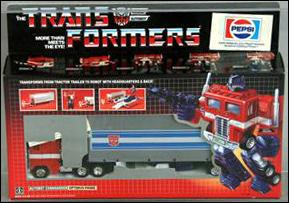 Transformers: More Than Meets the Eye (Generation 1) Optimus Prime (Autobot Leader) (Pepsi Label) by Hasbro