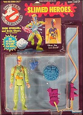 Real Ghostbusters: Slimed Heroes Egon Spengler and Brain Ghost by Kenner