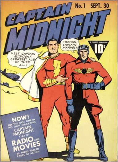 Captain Midnight (1942) 1-A by Fawcett