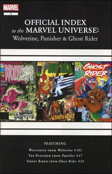 Wolverine, Punisher & Ghost Rider: Official Index to the Marvel Universe  4-A by Marvel