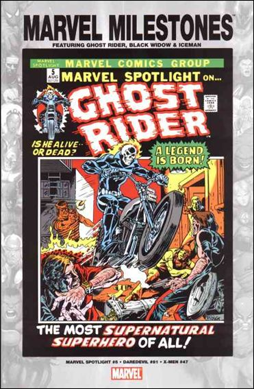 Marvel Milestones: Ghost Rider, Black Widow & Iceman nn-A by Marvel
