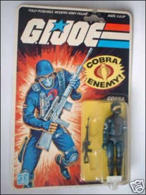 "G.I. Joe: A Real American Hero 3 3/4"" Basic Action Figures Cobra (The Enemy)  by Hasbro"