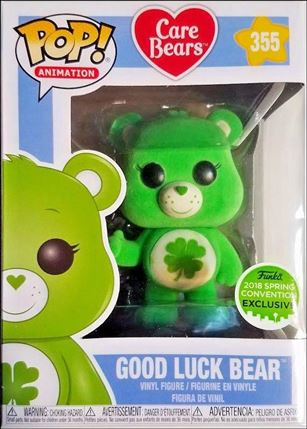 POP! Animation Good Luck Bear (Flocked) 2018 Spring Convention