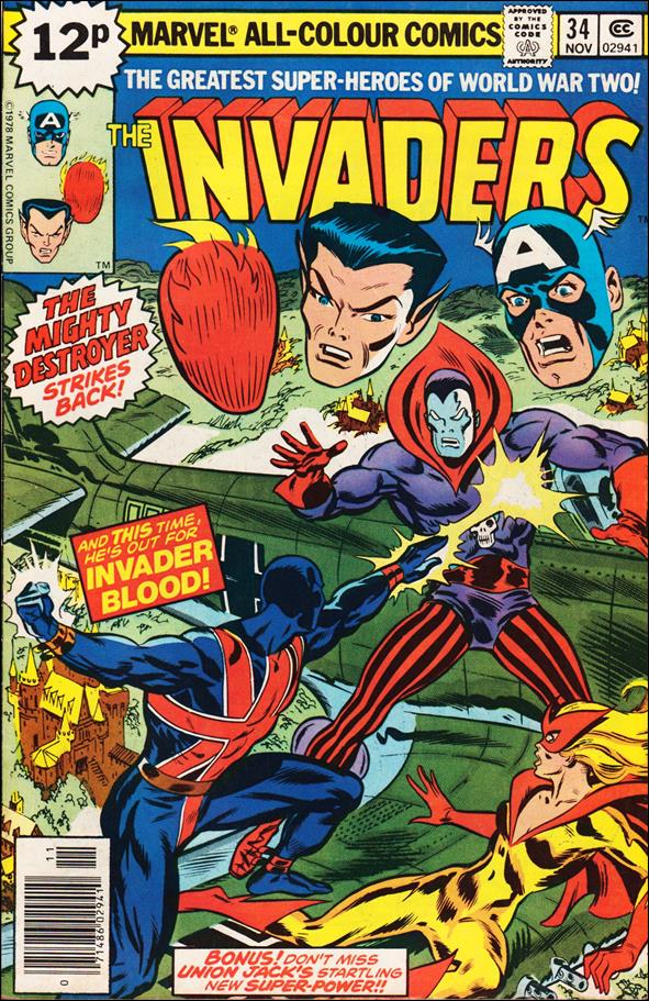 Invaders (1975) 34-B by Marvel