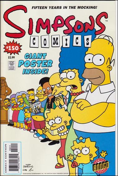 Simpsons Comics 150-A by Bongo