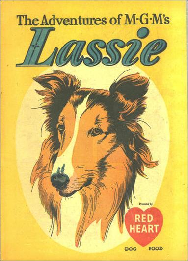 Adventures of MGM's Lassie 1-A by Dell