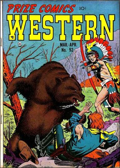 Prize Comics Western 92-A by Feature