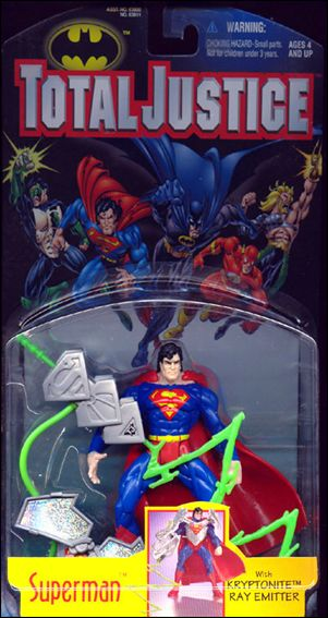 Total Justice Superman (Kryptonite Ray Emitter) by Kenner