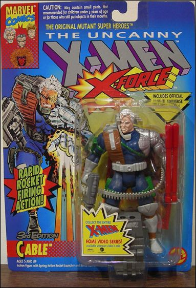 Marvel Comics X-Men CABLE 3 Toy Biz 1998