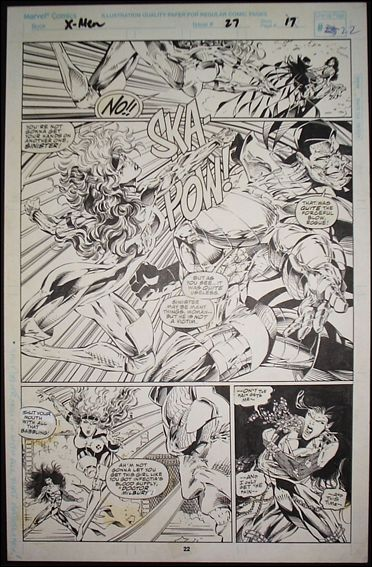 X-Men (1991) Story page 17, Line-up page 22 by Marvel