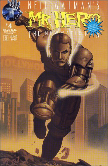 Neil Gaiman's Mr. Hero: The Newmatic Man (1995) 4-B by Tekno•Comix