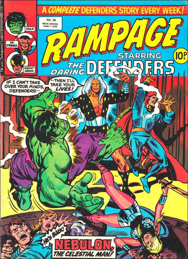Rampage Weekly (UK) 34-A by Marvel UK