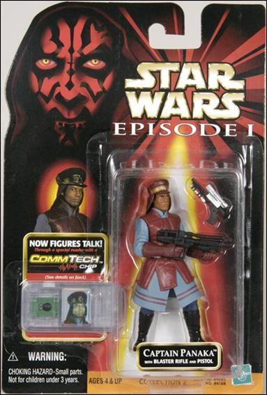"Star Wars: Episode I 3 3/4"" Basic Action Figures Captain Panaka (Sticker Corrected Chip Line) by Hasbro"