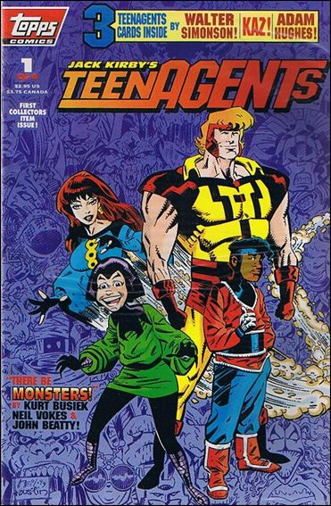 Jack Kirby's Teenagents 1-B by Topps