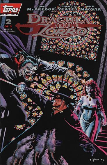 Dracula vs Zorro (1993) 2-A by Topps