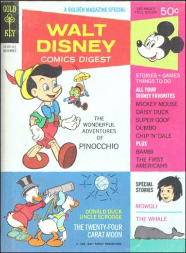 Walt Disney Comics Digest 6-A by Gold Key